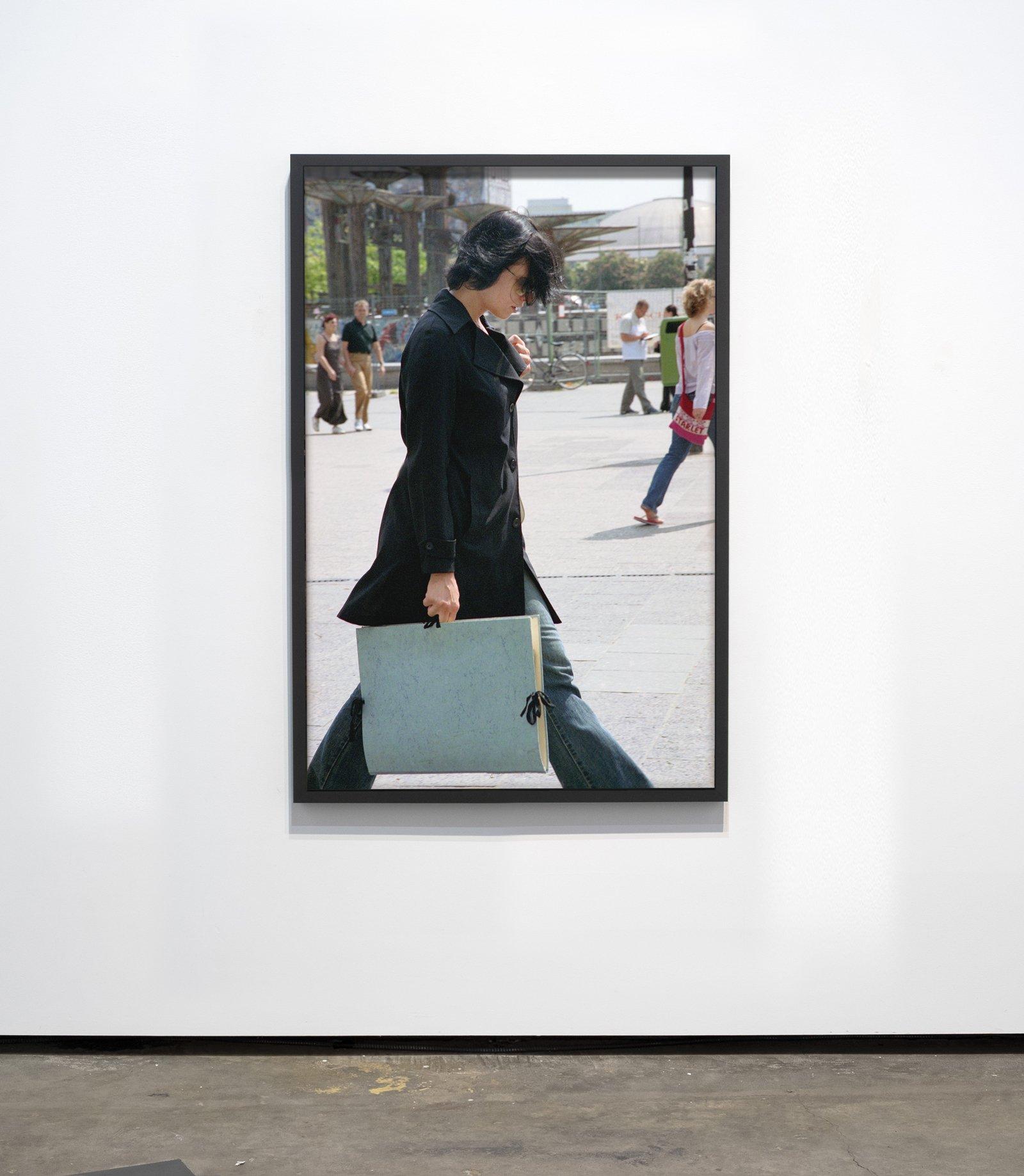 Woman with Blue Portfolio