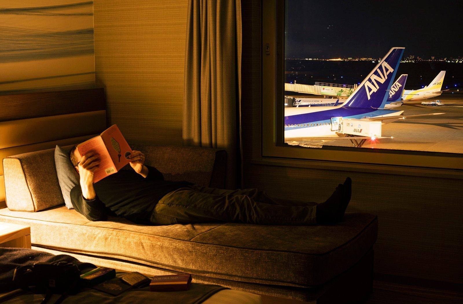Self Portrait, Haneda Airport Hotel, Tokyo